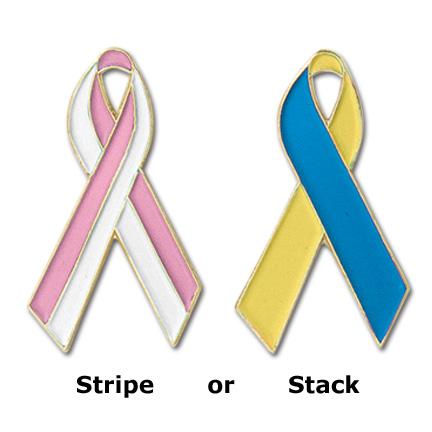 Custom Multi-Color Awareness Ribbon Pins - SR-MC
