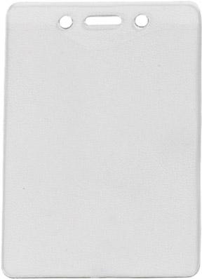 Clear Plastic Vinyl Name Badge Holder Fits Large Badges
