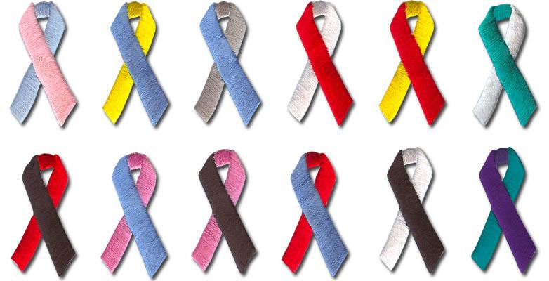 Infertility Awareness Ribbon Embroidered Awareness Ribbon