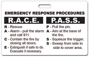 In Stock Emergency Race Pass Badge With Oval Hole